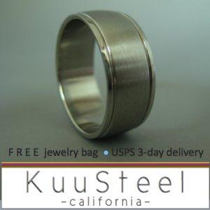 Plain Wedding Ring - Duo Edge - Stainless Steel Plain Wedding Band #310