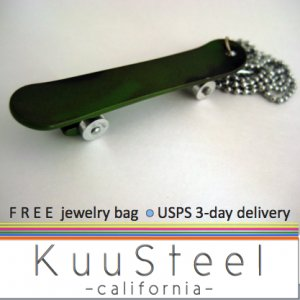 Mens Necklace Silver Chain - Pendant Necklace Jewelry for men - Skateboard (#605)