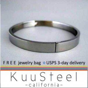 Mens Accessories-Cool Silver Bracelet Bangle For Men-Steel For Men (#660)