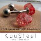 60% OFF - Sterling Silver Jewelry Red Cufflinks – For Men Women Groomsmen (#736C)