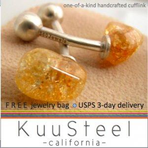 60% OFF- Sterling Silver Jewelry Gold Accent Cufflinks � For Men Women Groomsmen (#736D)