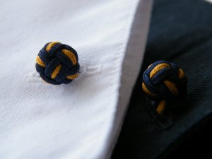 Double knot silk cufflinks, 721E
