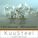 Star stud earrings, sterling silver stud earings for men, EC462