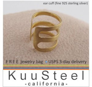 Men's gold ear cuffs, EC102D