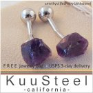 Amethyst gemstone cufflinks, February birthstone cufflinks, 430PA