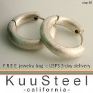Men's hoop earrings, sterling silver huggie hoop earrings, ECE157MN