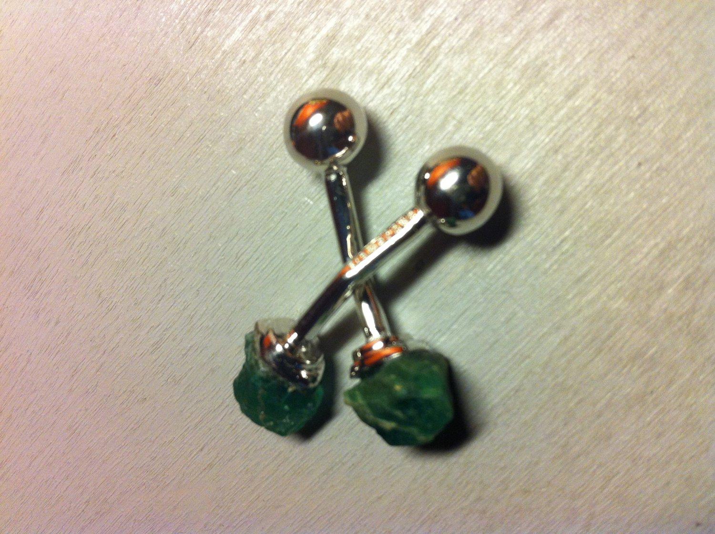 Sterling Silver Jewelry 5ct Emerald Green Cufflinks � For Men Women Groomsmen (#736H)