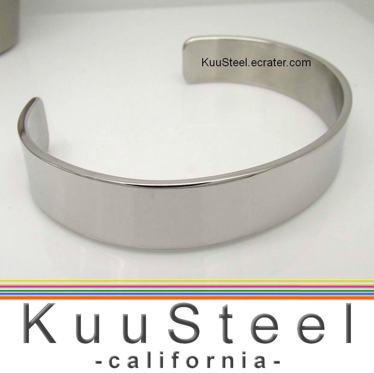 Mens Accessories- Silver Cuff Bracelet Bangle For Men-Steel For Men (#663)