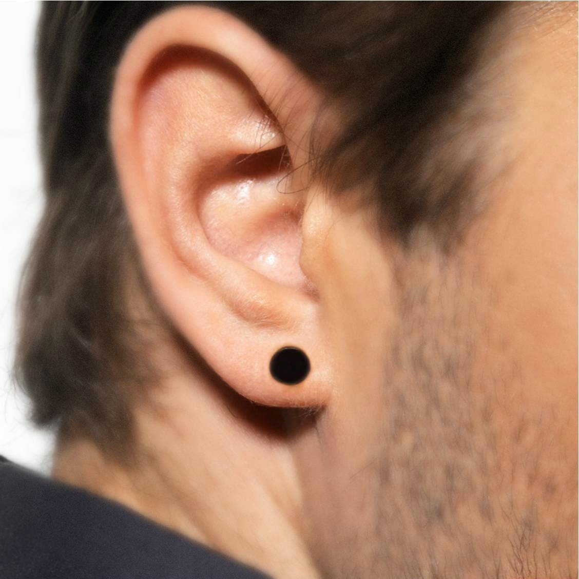 s disc fake flat stud studs plugs cheater plug p men earrings
