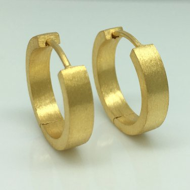 Men's hoop earrings, large yellow gold hoops, ECE193MY