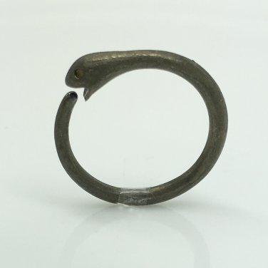 14 gauge black ouroboros snake hoop earring, ECE195Black