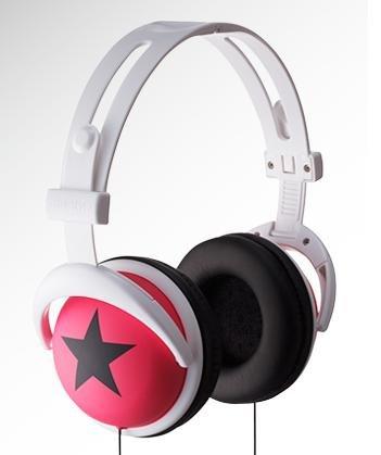Pink Headphone with black star
