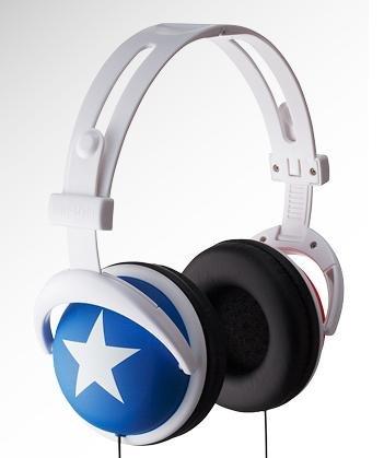 Blue Headphone white star