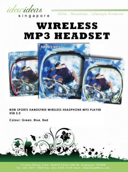 Wireless MP3 Headset