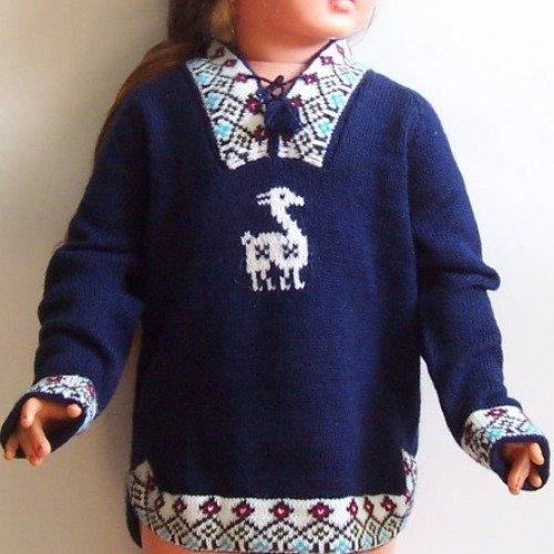 Lot of 10 alpaca wool sweaters for kids