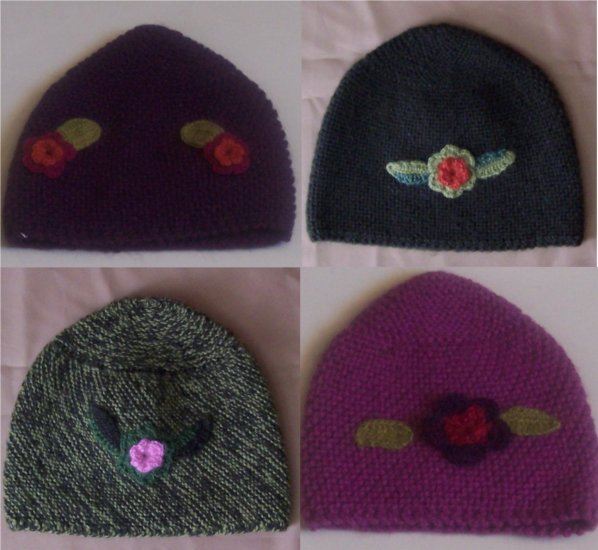 Lot of 10 little hat for children adorned with flowers