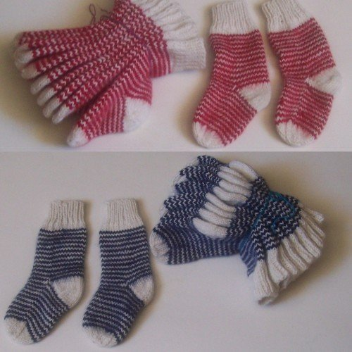 Lot of 10 alpaca wool socks for baby