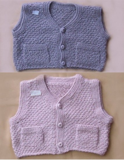 Lot of 10 little baby vest with buttons and pockets