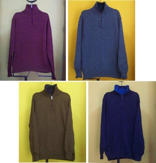 Lot of 10 Men's alpaca wool sweaters with zipper