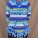 Lot of 10 alpaca hooded and fringed sweaters adorned with lamas