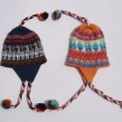 Lot of 10 alpaca wool hat with pompom