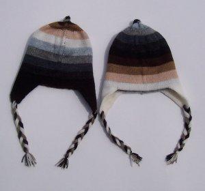 Lot of 10 alpaca wool hat (chullo) - reversible - 2 sides