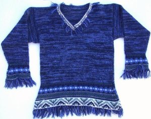 Lot of 10 lady ethnic fringed sweaters