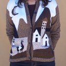 Lot of 10 alpaca sweaters adorned with Andean landscapes