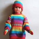 Lot of 10 sets for kids: sweater + hat + gloves