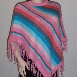 Lot of 10 beautiful ponchos -  multicolor -  Alpaca Wool