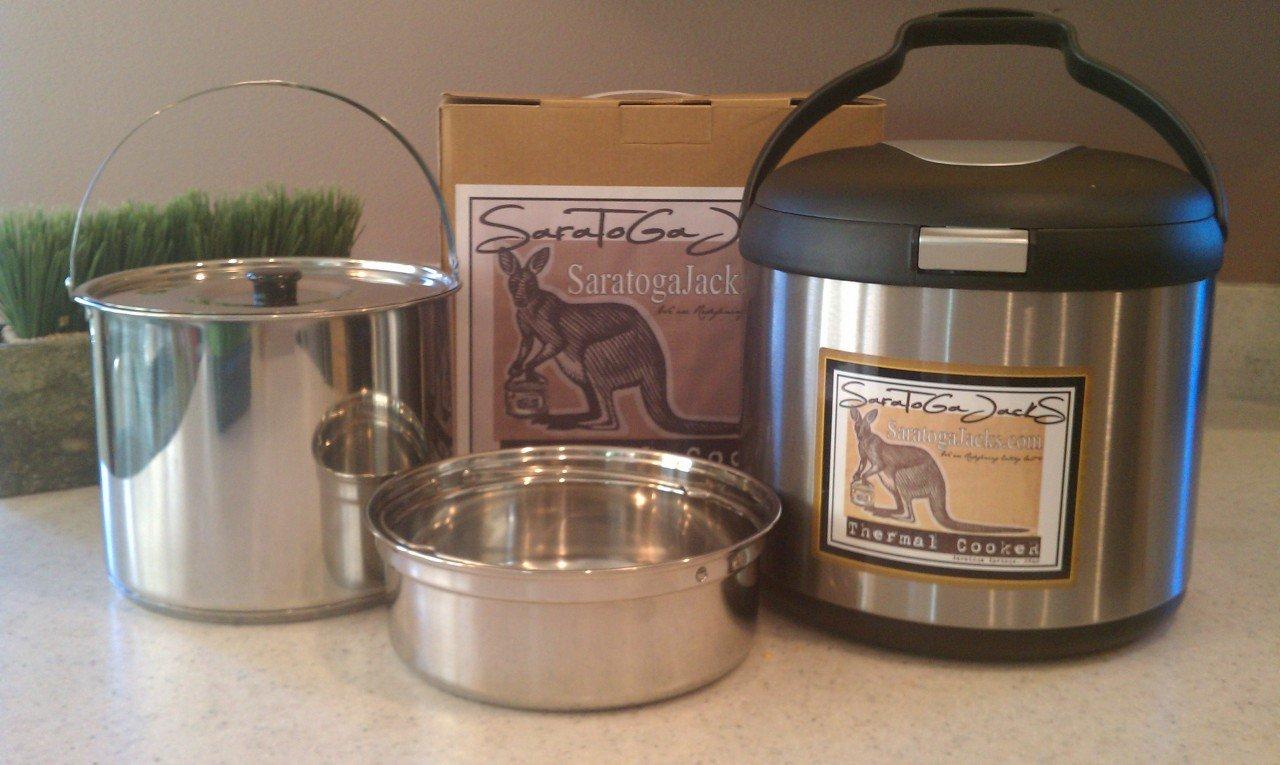 Saratoga Jacks 7L Thermal Cooker - Clad Bottomed Larger Pot - 2 inner pots - Feeds 6-10 People