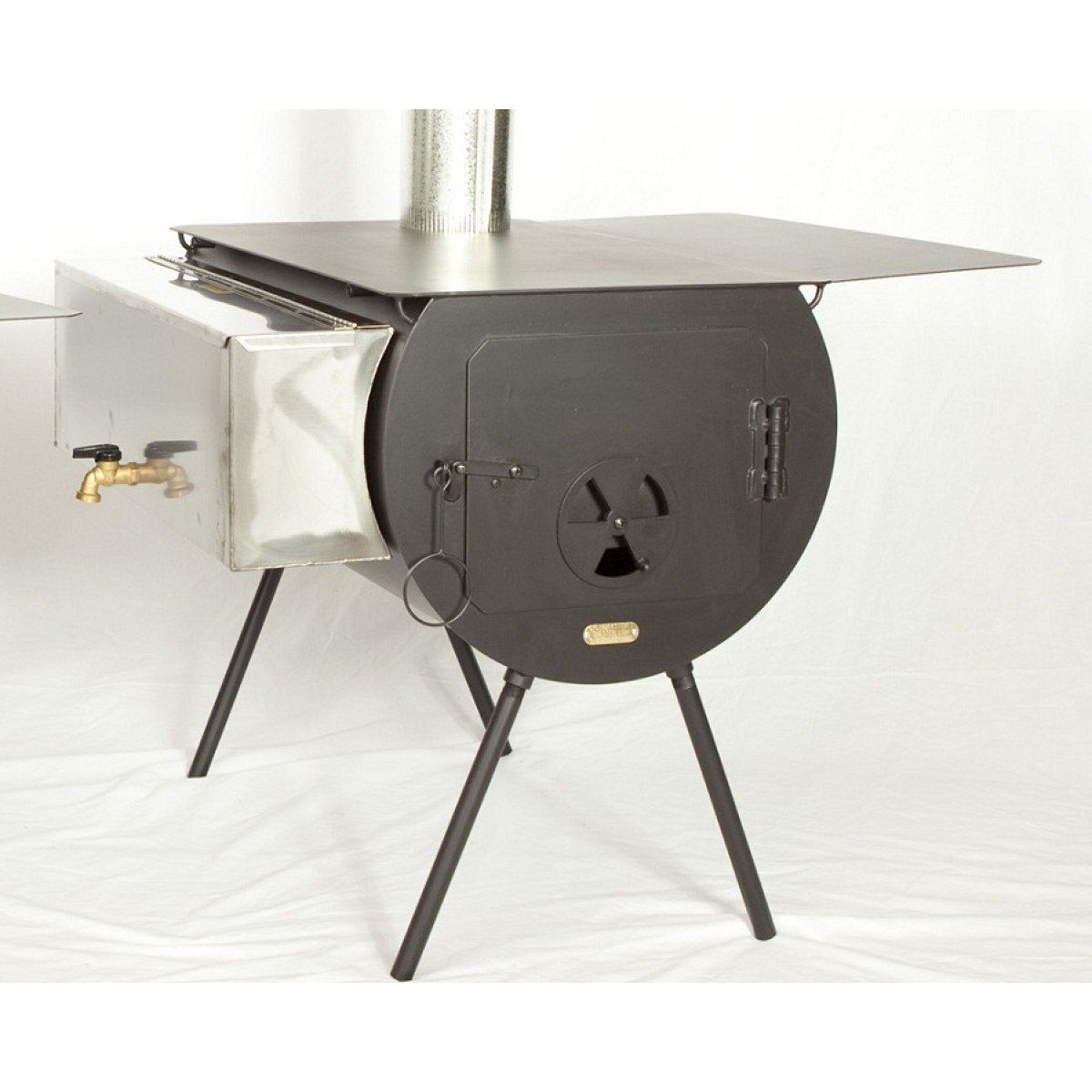 Yukon Tent Stove Package With Grate Wood Cylinder Stove