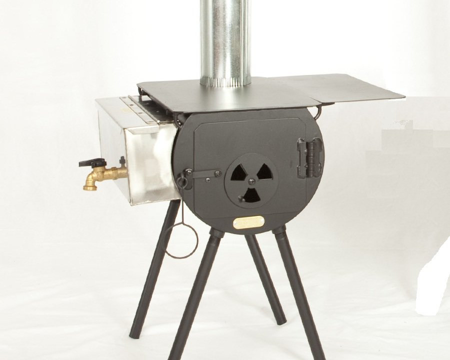 Scout Stove Package w/Grate Tent Cylinder Wood Stove