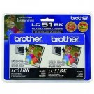 Brother LC51BK Print cartridge - 2 pack