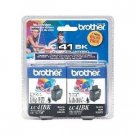 Brother LC41BK Print cartridge black (pack of 2)