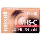 Maxell HGX-GOLD TC-30 Premium High Grade Videocassette