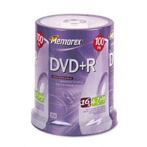 Memorex DVD+R 4.7GB 16x Recordable Disc 100pk