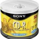 Sony CD-R Recordable Media 50CDQ80LS3 50 Discs