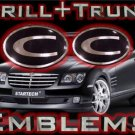 """C"" GRILL+TRUNK WING EMBLEM! Chrysler Crossfire 04-08+"