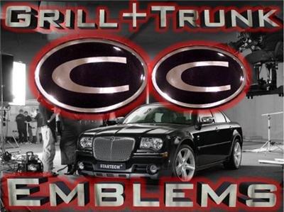 """C"" GRILL+TRUNK WING EMBLEM! Chrysler 300/300C 04-05-09"