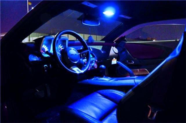 """BLUE LED """"Visor"""" BULB KIT! Chrysler 300/300C 05-10 BODY"""