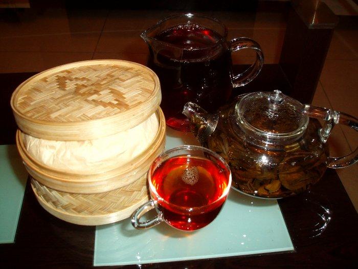 Ancient-tree sencha Pu-erh loose tea(China Specialty loose tea) 8.8-oz
