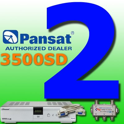 2 UNIT: Pansat 3500SD Receiver B-80