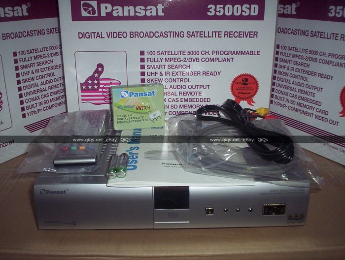 (Open Box) Pansat 3500SD Receiver (B-80 Flashed) - All Accessories Included