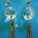 Crystal and Chain earrings