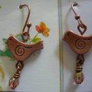 Bird Charm earrings