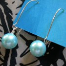 Turquoise Pearl Earring