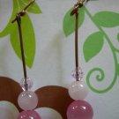 Pink stacker Earrings