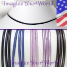PURPLE violet Leather Cord Necklace 2mm CUSTOM 24 inches (or less)