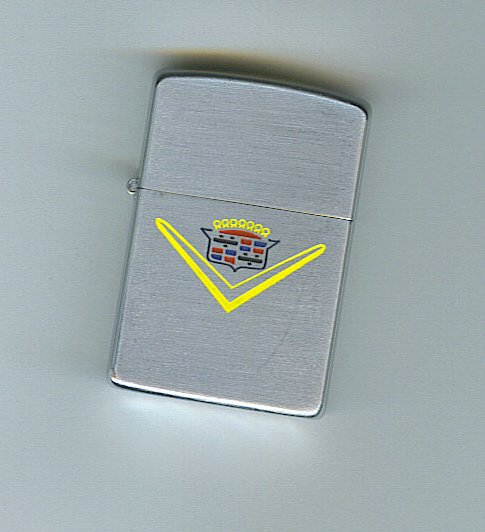 ZIPPO : 1953 VINTAGE CADILLAC LOGO LIGHTER  - OUT OF STOCK